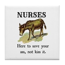 Nurses Save the Day Tile Coaster
