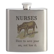 Nurses Save the Day Flask