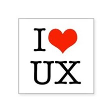 I heart UX Sticker