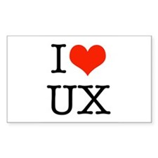 I heart UX Decal
