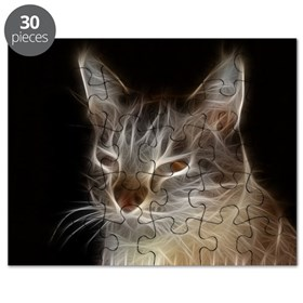 Beautiful Fractal Cat Puzzle