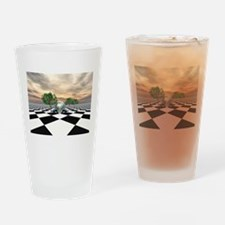 Checker Trees Drinking Glass