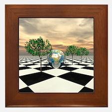 Checker Trees Framed Tile