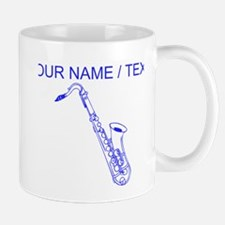 Custom Blue Saxophone Mug