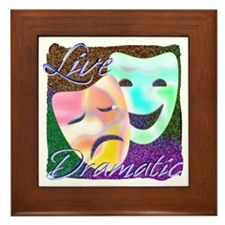 Live Dramatic Thespian Drama Framed Tile