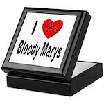I Love Bloody Marys Keepsake Box