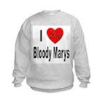 I Love Bloody Marys (Front) Kids Sweatshirt
