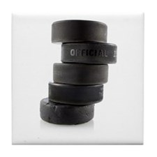 Official Ice Hockey Pucks Tile Coaster