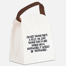 Password Canvas Lunch Bag