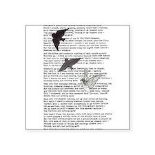 The Raven poem, Edgar Allan Poe poetry Square Stic