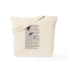 The Raven poem, Edgar Allan Poe poetry Tote Bag