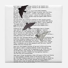 The Raven poem, Edgar Allan Poe poetry Tile Coaste