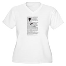 The Raven poem, Edgar Allan Poe poetry T-Shirt