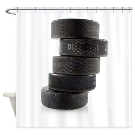 Official Ice Hockey Pucks Shower Curtain