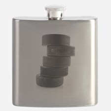 Official Ice Hockey Pucks Flask