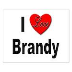 I Love Brandy Small Poster
