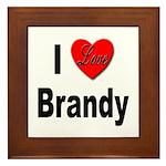 I Love Brandy Framed Tile