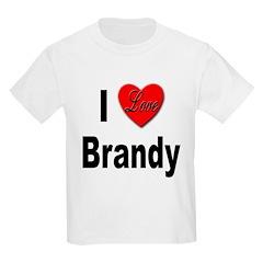 I Love Brandy (Front) Kids T-Shirt