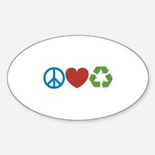 Peace, Love, Recycle Decal