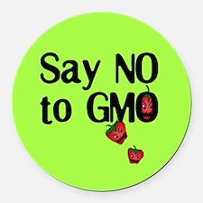 Say NO to GMO Round Car Magnet