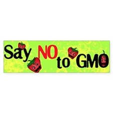 No GMO Bumper Bumper Sticker