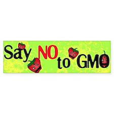 No GMO Bumper Car Sticker