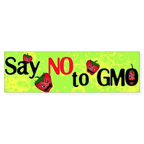 No GMO Bumper Sticker