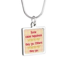Causing Happiness Silver Square Necklace