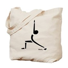 Yoga Warrior Pose - Black Tote Bag