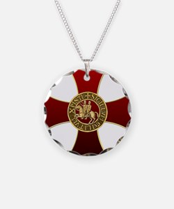Templar cross and seal Necklace