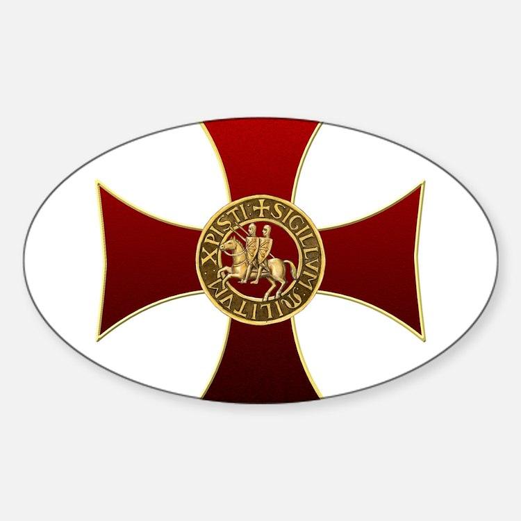 Templar cross and seal Decal