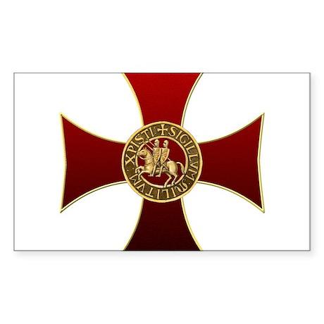 Templar cross and seal Sticker