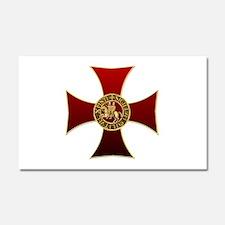 Templar cross and seal Car Magnet 20 x 12