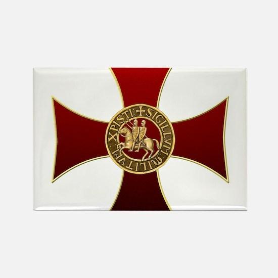 Templar cross and seal Rectangle Magnet