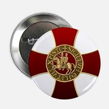 "Templar cross and seal 2.25"" Button"