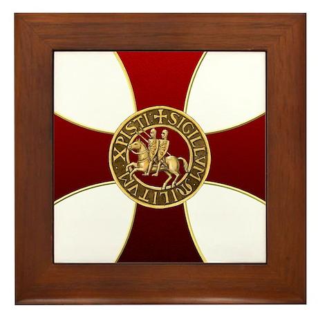 Templar cross and seal Framed Tile
