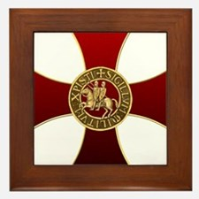 Templar cross and seal Framed Tile