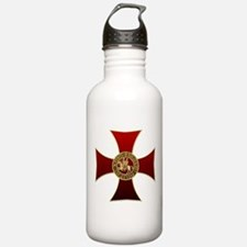 Templar cross and seal Sports Water Bottle