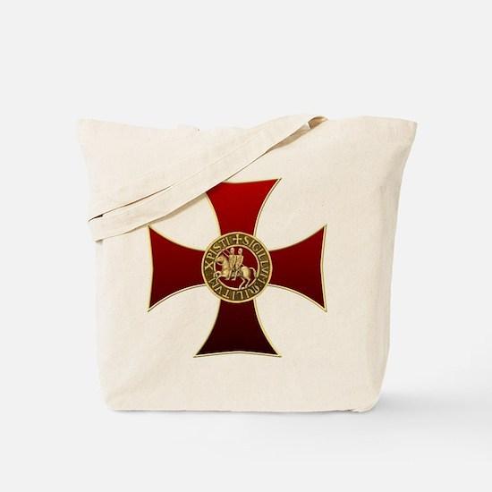 Templar cross and seal Tote Bag