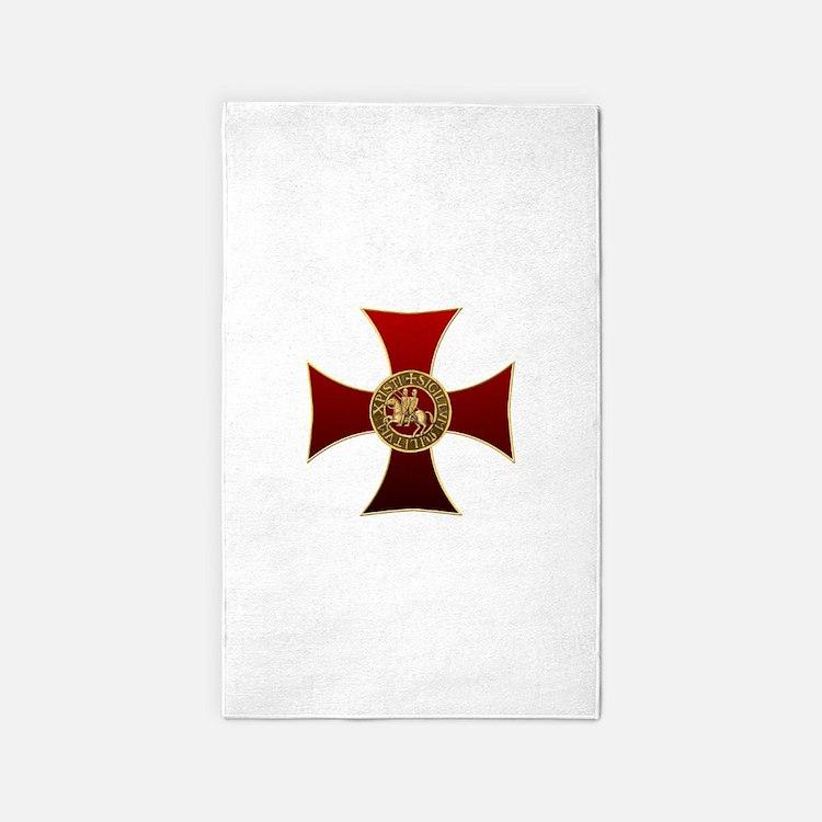 Templar cross and seal 3'x5' Area Rug