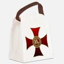 Templar cross and seal Canvas Lunch Bag