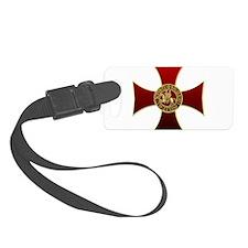 Templar cross and seal Luggage Tag