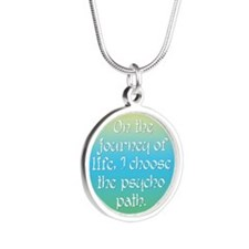 Psycho Journey of Life Silver Round Necklace