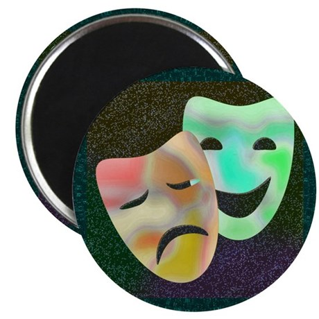 "Drama Thespian Masks 2.25"" Magnet (10 pack)"