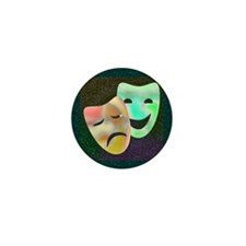 Drama Thespian Masks Mini Button
