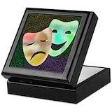 Drama masks Square Keepsake Boxes