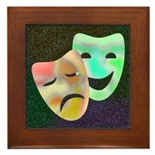 Drama Thespian Masks Framed Tile