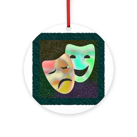 Drama Thespian Masks Ornament (Round)