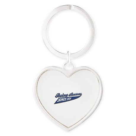 Awesome since 1924 Heart Keychain