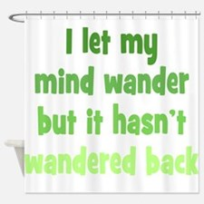 Wandering Mind Shower Curtain